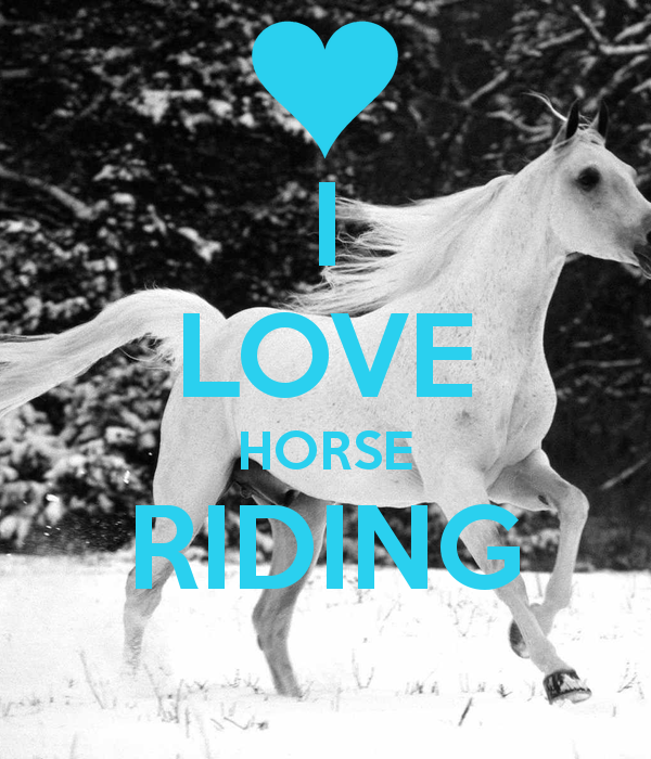 My hobby is riding hor...